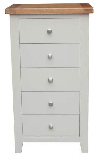 Malvern Grey 5 Drawer Tall Chest